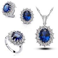Wholesale Hot Sales Elegant William and Kate Royal Blue Jewelry Wedding Sets