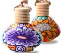Wholesale Car Decoration Ceramic essence oil Perfume hanging Bottles Auto supplies automotive empty Perfume Bottles