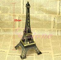 Cheap 25CM Tower Eiffel Home Decoration Items Vintage Metallic Model Iron Creative Decorative Modern Artificial Photo Prop Crafts