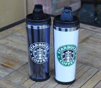 Wholesale Starbucks Double Wall Stainless Steel Mug Flexible Cups Coffee Cup Mug Tea Travelling Mugs Tea Cups Wine Cups
