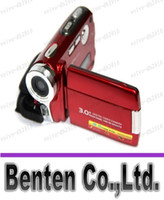 Wholesale LLFA7799 MP Mega Pixel inch Touch Screen Digital Camera DV Camcorder Video Red Digital Zoom X