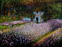 artist canvas for sale - Artists Garden at Giverny Claude Monet Painting for sale canvas art High quality Hand painted