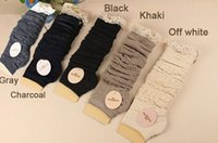 ladies knee socks - Fashion Winter Cotton Leg warmer for women Long Lady Knee socks knitted leg warmers for boots causal winter boot cuff in stock