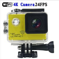 Wholesale SJ8000 Ultra HD K FPS Mp action Video camera degrees Wide Angle Sports DV quot LCD waterproof m wifi HDMI
