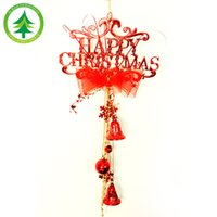 Cheap Hei Bao Christmas crafts Christmas ornaments decorated festively decorated wall clock Happy English
