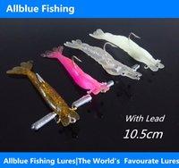 best artificial shrimp - AllBlue Isca Artificial Lure Fishing Soft Baits Silicone Shrimp Hook Best Quality cm Colors Luminous