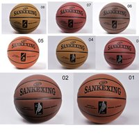 Wholesale Special Clearance Microfiber PU High Grade On The th Basketball Wear Sweat Import Soft Leather Standard Basketball Game