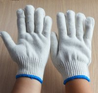 cotton gloves white - White cotton gloves in daily life working and protection
