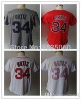 custom baseball jersey - 2016 New women David Ortiz Jersey fit Baltimore Baseball jersey female stitched fashioners red pink gray custom cheap authentic sport