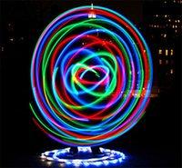Wholesale 100pcs LED HULA HOOP diameter cm performance sport equipment weight lose