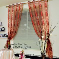 Wholesale home decoration jacquard tulle fabric for bedroom curtain balcony