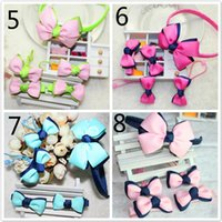 baby bow kit - Girls Hair Clips Sets Baby Hair Clips Hair Bows Princess Hair Headbands Bow Clips Girl Set Kit Pink Red Blue