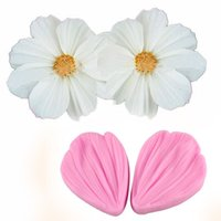 Wholesale 10X transvaal daisy Flower petals fondant cake molds Fondant decoration soap chocolate mould for the kitchen baking cake tool