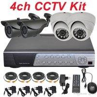 Wholesale Cheap Cctv Installation - Best cheap 4ch cctv kit cctv system installation sony 700TVL security surveillance video monitor camera DVR network digital video recorder