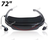 Wholesale Portable GB Memory Mobile Theatre Cinema Eyewear Video Glasses w inch Virtual Screen TF Card AV Slot TDG D