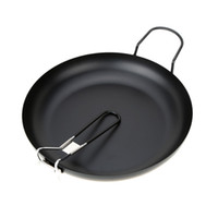 Wholesale Camping Picnic Cooking Cookware quot High Carbon Steel Nonstick Frying pan with Folding Handle Mini Frying pan Small Size Fry pan