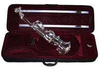 best transparencies - 4 Full Transparent Crystal Electric Violin with best LED light Excellent transparency Acrylic violin