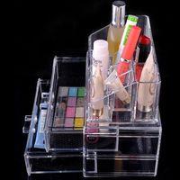 acrylic vanity - Clear Acrylic Cosmetics Makeup Organizer Drawer Make Up Case Vanity Table Storage Box Insert Holder Makeup Tool Kit