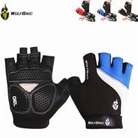 gloves - Brand Non slip Short Gloves Mitten Road MTB Motorcycle Cycling Bike Bicycle Racing Riding Breathable Half Finger Glove WOLFBIKE