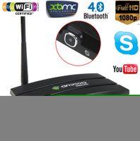 Wholesale Android Smart TV Box RK3188 Quad Core GB GB Media Player with M Camera MIC HDMI RJ45 Wifi Buletooth XBMC Mini PC