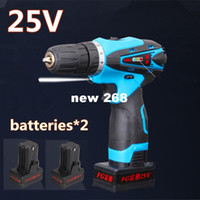 battery torque wrench - 25V Lithium Battery household wireless electric Torque drill bits Hand Drill electric screwdriver Hammer wrench power tool sets