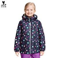 kids winter jackets - New Year Girls Winter Coat Jackets Kids Hooded Polka Dot Coats For Girls Softshell Parkas Outwear Warm Children Clothing CH018