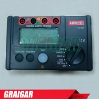 Wholesale Digital Earth Ground Resistance Voltage Meter Tester UNI T UT521 LCD V ohm Double insulation protection