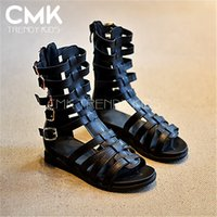 beautiful shoes - KS045 New Arrival Ankle high Gladiator Shoes Girls Beautiful High top Roman Shoes Hollow Out Sandals For Girls