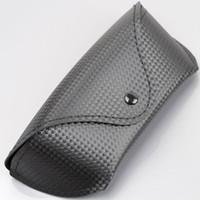 Precio de Carbono especial-Negro de fibra de carbono Gafas Gafas de sol Special Edition Flip Case / cubierta