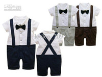 baby boy suspender shorts - baby boy infant toddler summer one piece gentleman romper texudo romper texudo onesies short sleeve Suspenders trousers jumpsuits pants