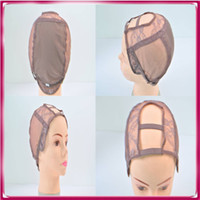 Wholesale High quality U part lace cap for making wigs front human hair wigs with adjustable straps wig caps