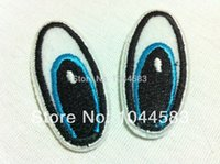 Wholesale 40 Pieces Cartoon Eyes x cm Embroidered Iron on Patch Applique ALN