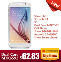 Wholesale Sealed box inch S6 Dual Core MTK6592 Cell Phone Show G64GB MP Android G9200 Show Smart phone
