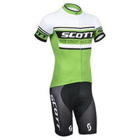 Anti Bacterial bicycle shorts for men - In Scott racing clothing hot short sleeve cycling coat and tight pants cycling jerseys clothing bicycle for sale