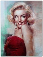 andy warhol marilyn monroe painting - Andy warhol American actress Marilyn Monroe stars Symbolwall sex movie art figure oil painting canvas for home decoration