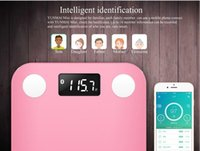 Wholesale YUNMAI MINI Smart Weighing digital Scale Body fat health scale support Android4 IOS7 Bluetooth wireless connect