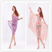 Wholesale Two colors cm chiffon gallus beach towel Beach dress Sarongs Multi purpose scarf sexy bathrobe