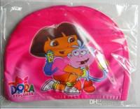 Wholesale Swimming Caps Boys Girls Hats Cartoon Dora Spiderman Cars KT Thomas for Children Kids Child Lycra Swim Bathing Cap Digital