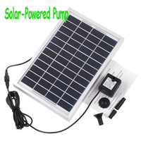 Wholesale Polycrystalline Silicon Cycle Pond Fountain Solar Fountain Solar Water Pump L H Freeshipping Dropshipping