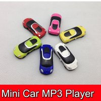 Wholesale 50pcs Protable MP3 Mini Car Rechargeable Digital player W TF card Slot Free DHL