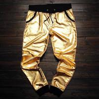 big men dress pants - YOUNG JEEZY L XL men hip hop fashion big and tall mens clothing stage swag dance gold pants dresses xl sweatpants jogers