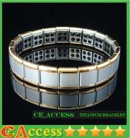 Wholesale On Sale Silver Titanium Health Bracelet Power Nano Energy Germanium Magnetic Balance Ion Powerful