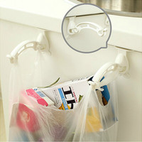 Wholesale Home Garden Hooks Rails Behind The Door Hanger Holder Folded Hat Bag Organizer Tools Garbage Bag Hangers