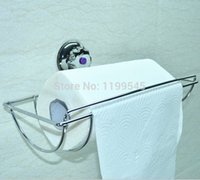 bathroom paper cup holder - Suction cup stainless steel Bathroom Accessories Brass Tissue Box Toilet Paper Holder
