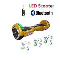 skateboard wheels - 2016 New Inch Self Balancing Wheel Smart LED Scooters Charger Smart Drift Scooter Hoverboard Bluetooth Remote Bag Electric Scooter