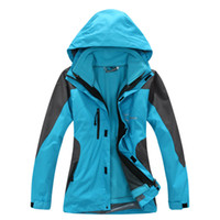 Wholesale 2016 Women Winter in1 Jacket Waterproof breathable soft shell Ski Snowboard Running Soft Fleece Lined Hooded Coat Sports Clothes