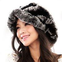 baseball cap ear flaps - Genuine Rex Rabbit Fur Women Winter Ear Flap Baseball Peaked Hats Ursfur Fashion Girl Female Earflap Caps Dropshipping