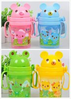 baby belt children - Baby Kids Straw Cup Drinking Bottle Sippy Cups With handles and belt girl boy baby children Cute Design drinkware