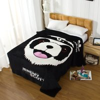 airplane travel blanket - Travel Blanket Soft Coral Fleece Blanket Cute Panda For Travelling Airplane Home CM