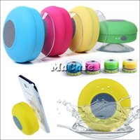 Wholesale Portable Waterproof Wireless Mini Bluetooth Speaker Shower Call Handsfree Receive Call Music Suction Phone Mic with Retail Box